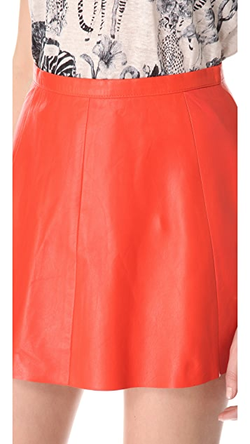 Love Leather Starburst A Line Mini Skirt