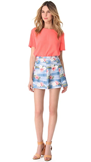 Love Leather Hawaiian Punch A Line Mini Skirt