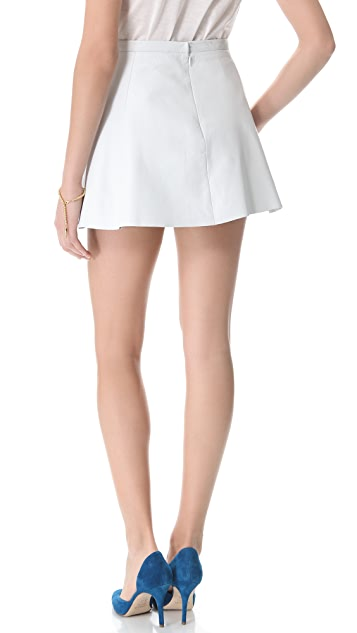 Love Leather Chicklet A Line Mini Skirt