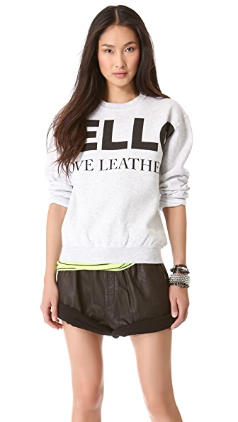 Love Leather Logo Fleece Sweatshirt