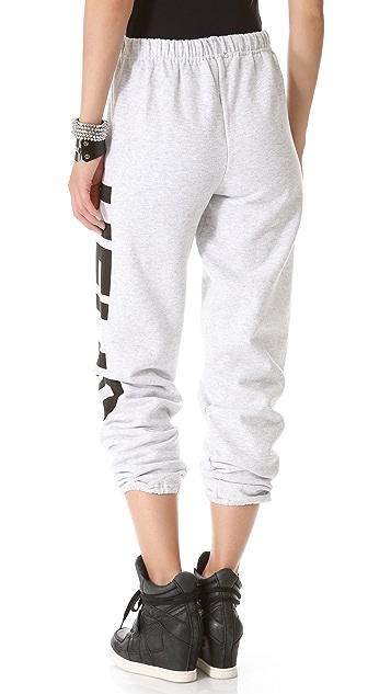 Love Leather Logo Fleece Sweatpants