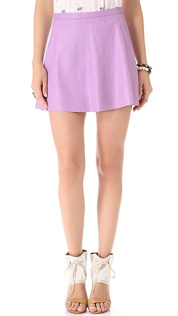Love Leather Lilac Pop Leather Miniskirt