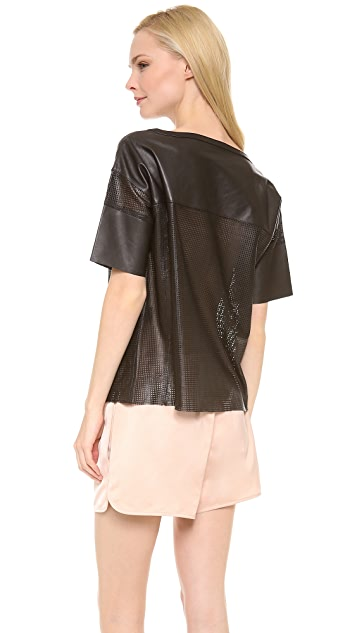 Love Leather Touchdown Jersey Top
