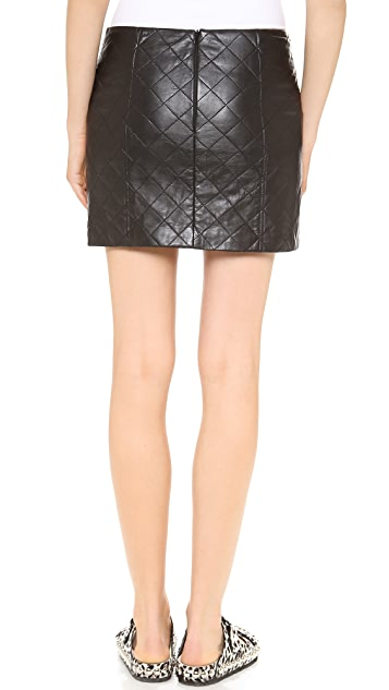 Love Leather Quilted Straight Shooter Skirt