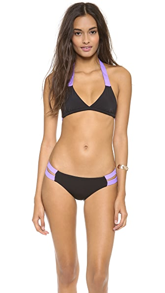 Lisa Lozano Sporty Halter Bikini Top