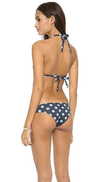 Lisa Lozano Polka Dot Basic Triangle Bikini Top