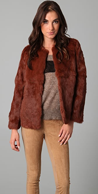 Le Mont St. Michel Short Fur Coat