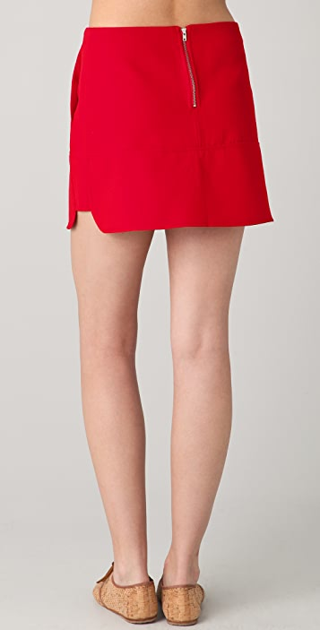 Le Mont St. Michel Pieced Miniskirt