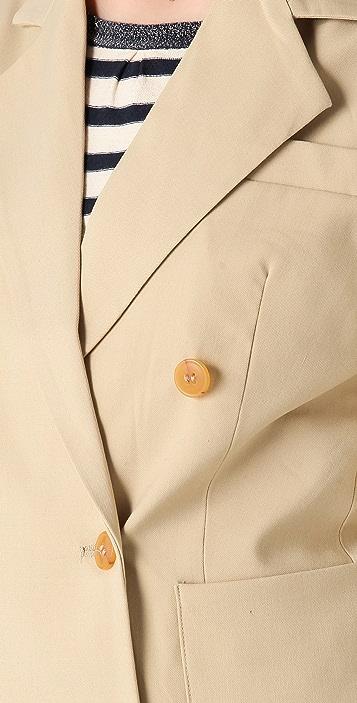 Le Mont St. Michel Pocket Front Blazer