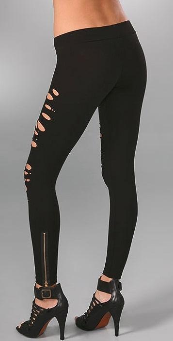 LNA Ripped Zipper Leggings
