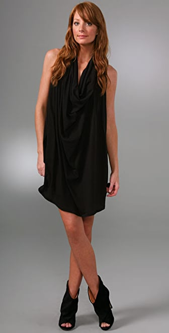 LNA Drape Neck Dress