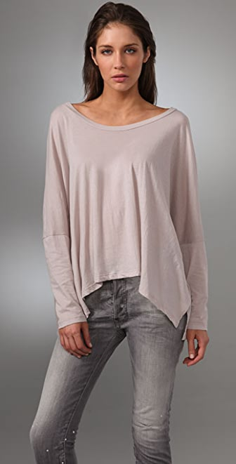 LNA Long Sleeve Cape Tee