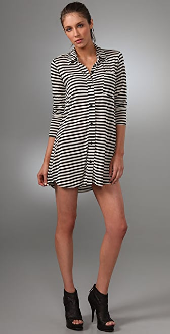 LNA Collar Shirtdress