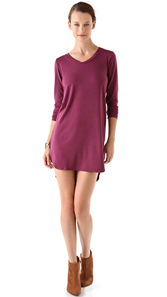 LNA Colette Long Sleeve Cutout Dress