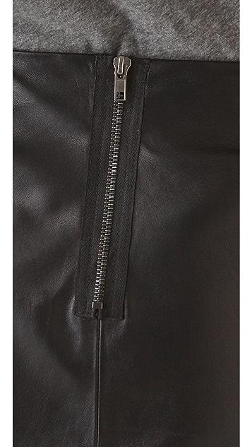 LNA Charming Leather Skirt