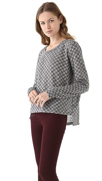 LNA Checkered Sweater