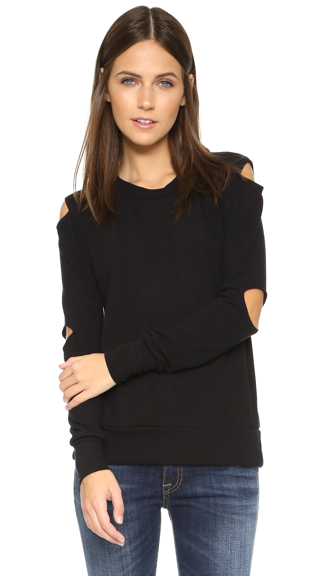 LNA Cutout Sweater - Black