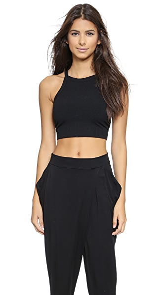 LNA Ribbed Marlo Crop Top