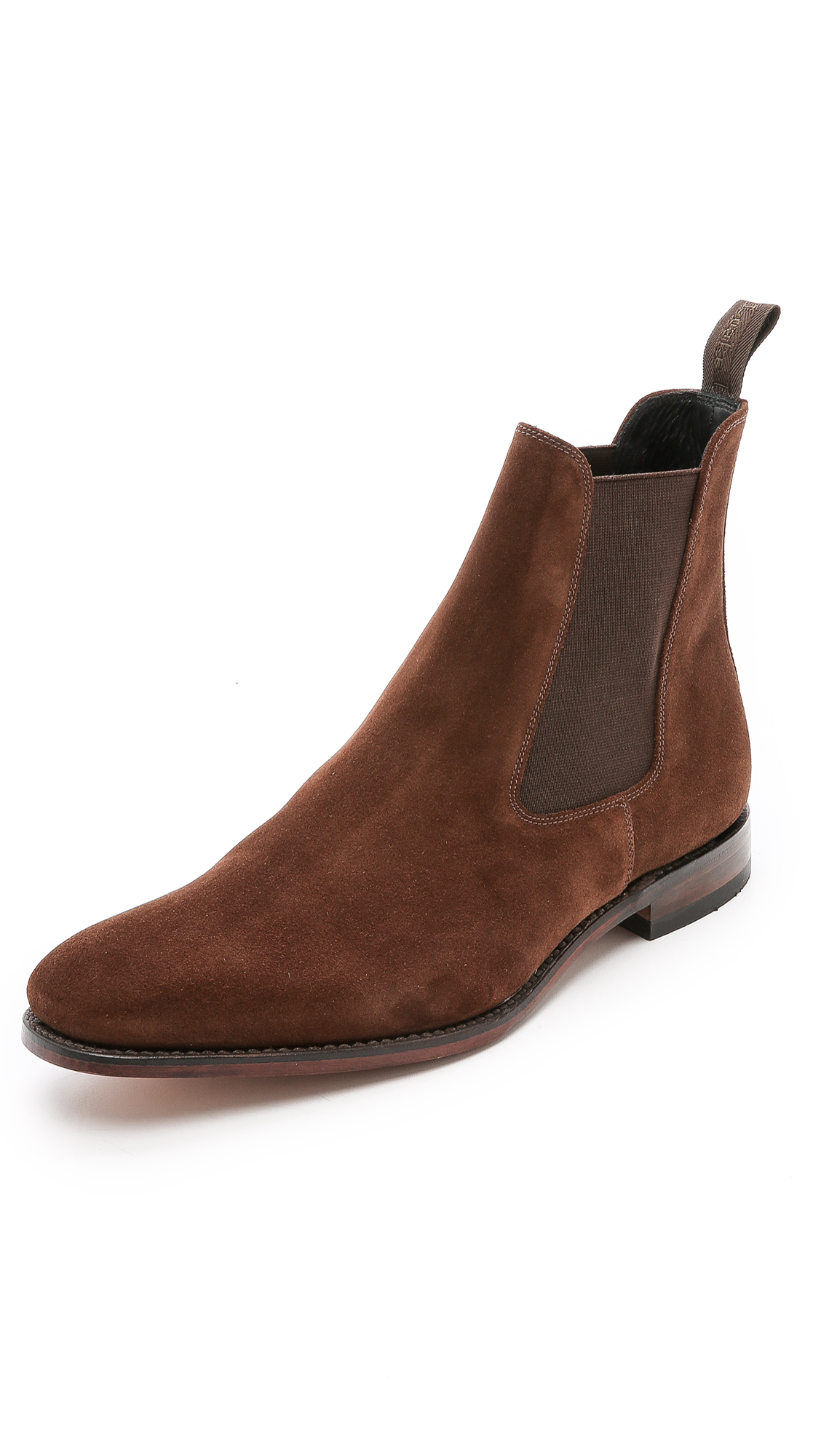 LOAKE 1880 1880 CHATSWORTH SUEDE CHELSEA BOOTS