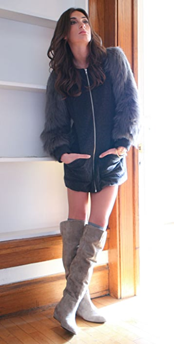 Loeffler Randall Riley Over The Knee Suede Boots