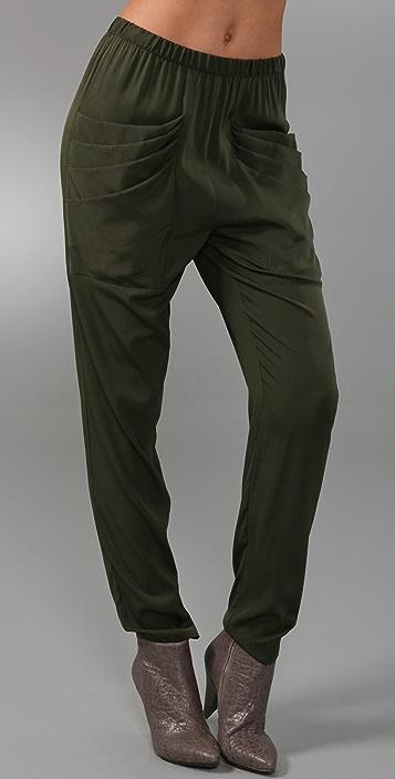 Loeffler Randall Draped Pocket Pants