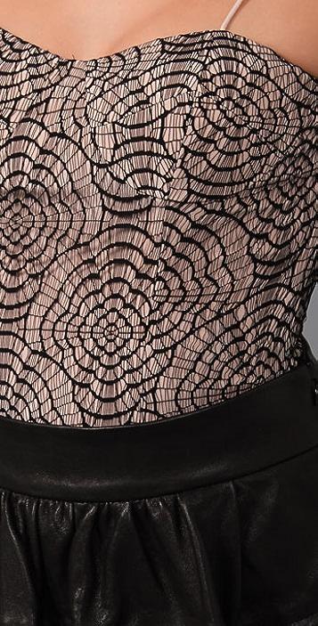 Loeffler Randall Lace Bustier Top