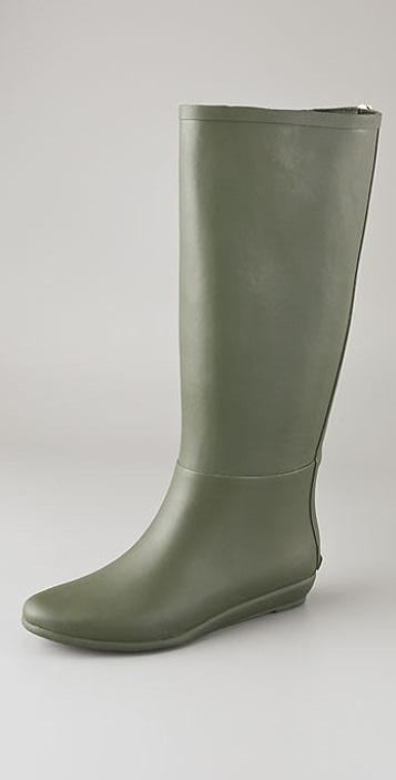 Loeffler Randall Back Zip Rubber Rain Boots