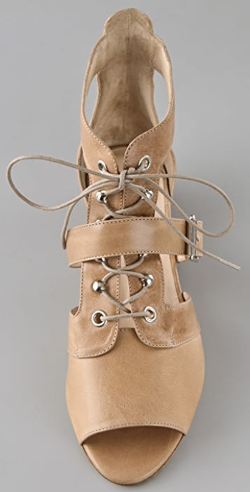 Loeffler Randall Ynez Lace Up Booties