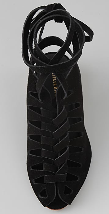 Loeffler Randall Roni Suede Lace Up Sandals