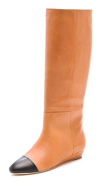 Loeffler Randall Margeaux Sliver Wedge Boots