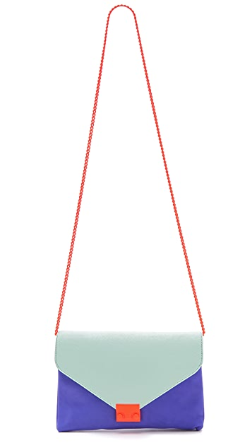 Loeffler Randall The Colorblock Lock Clutch