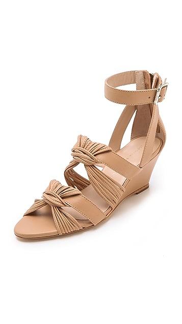 Loeffler Randall Alana Twist Wedge Sandals
