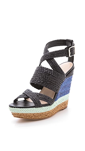 Loeffler Randall Lake Strappy Wedge Sandals