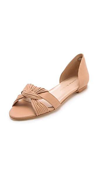 Loeffler Randall Luella Twist Flat Sandals