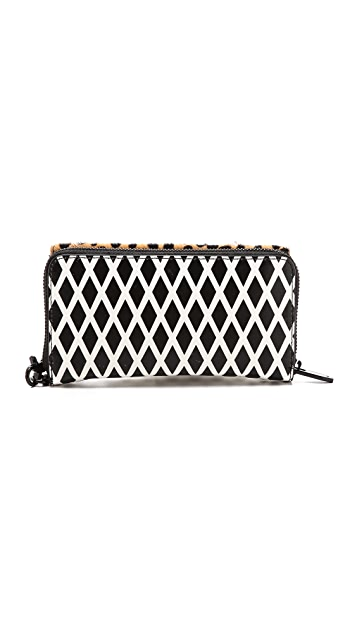 Loeffler Randall Haircalf Zip Wallet