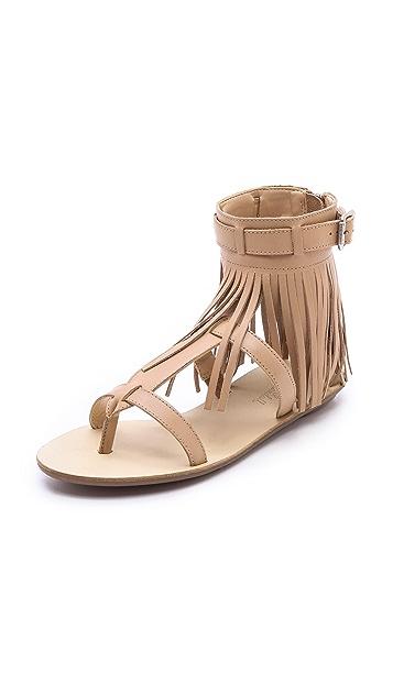 Loeffler Randall Sienna Fringe Flat Sandals