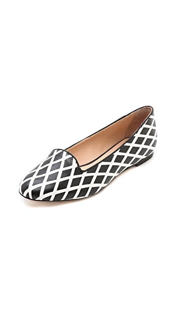 Loeffler Randall Blaise Cross Hatch Loafers