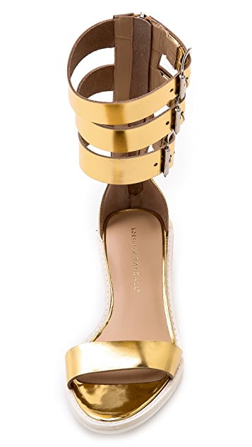 Loeffler Randall Maude Stacked Heel Sandals