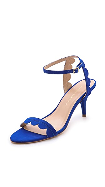 Loeffler Randall Lillit Scalloped Kitten Heel Sandals