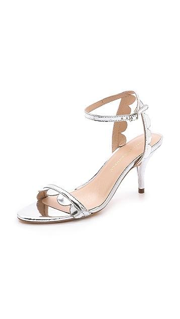 Loeffler Randall Lillit Scalloped Kitten Heel Sandals