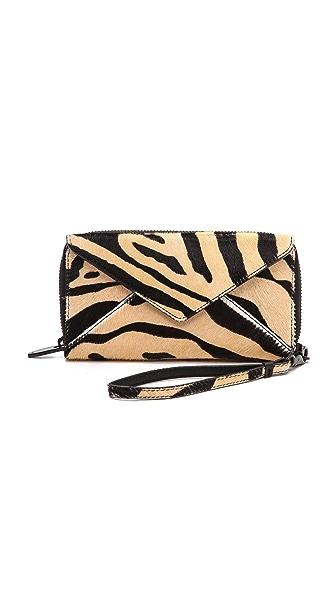 Loeffler Randall Fur Zip Wallet