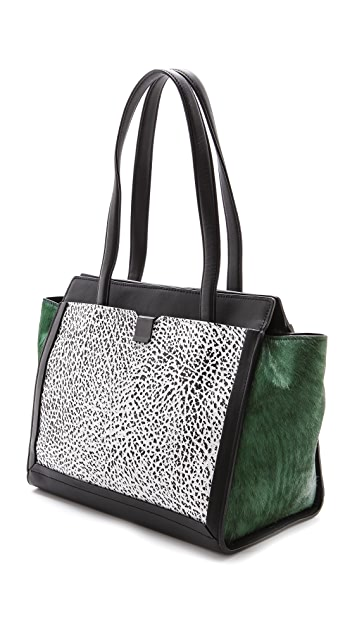 Loeffler Randall Embossed Walker Tote with Haircalf