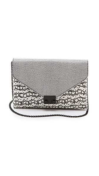 Loeffler Randall Embossed Lock Clutch