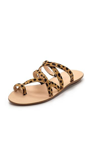 Loeffler Randall Sarie Haircalf Flat Sandals