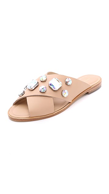 Loeffler Randall Echo Jeweled Slides