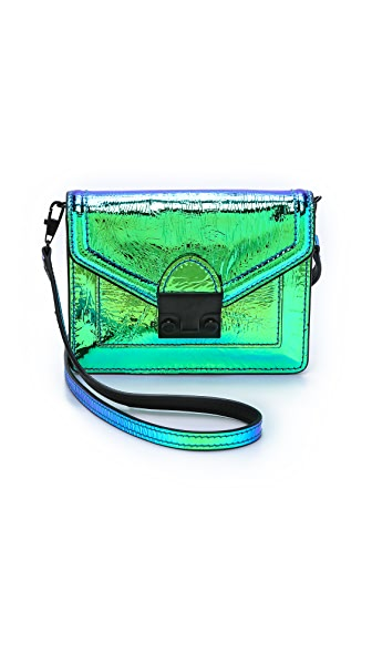 Loeffler Randall Iridescent Baby Rider Cross Body Bag