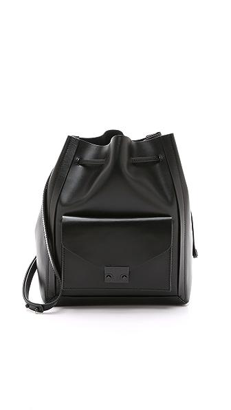 Loeffler Randall Lock Drawstring Bucket Bag