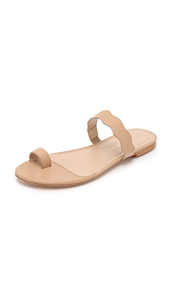 Loeffler Randall Petal Toe Ring Sandals - Wheat