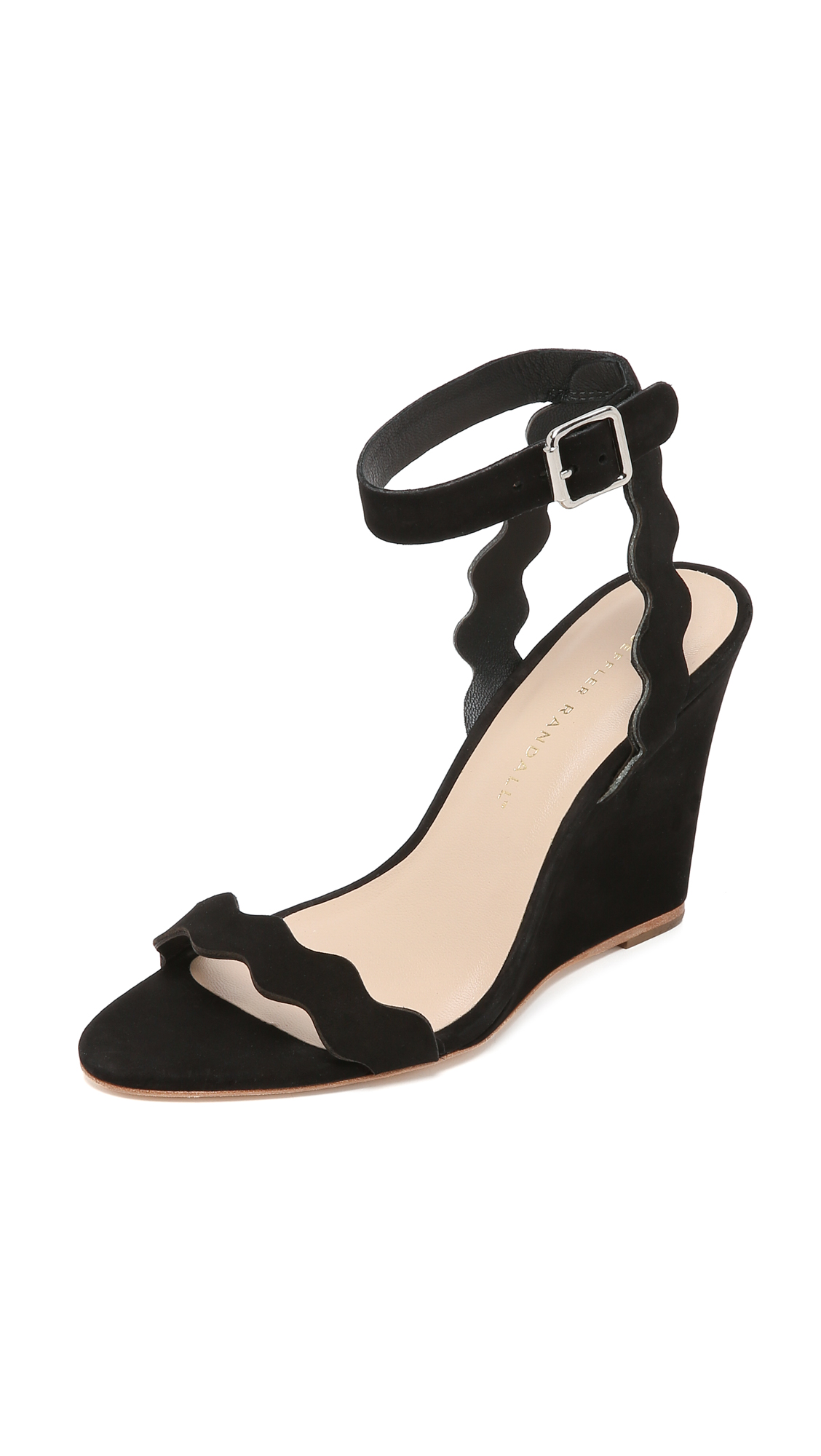 Loeffler Randall Piper Wedge Sandals - Black