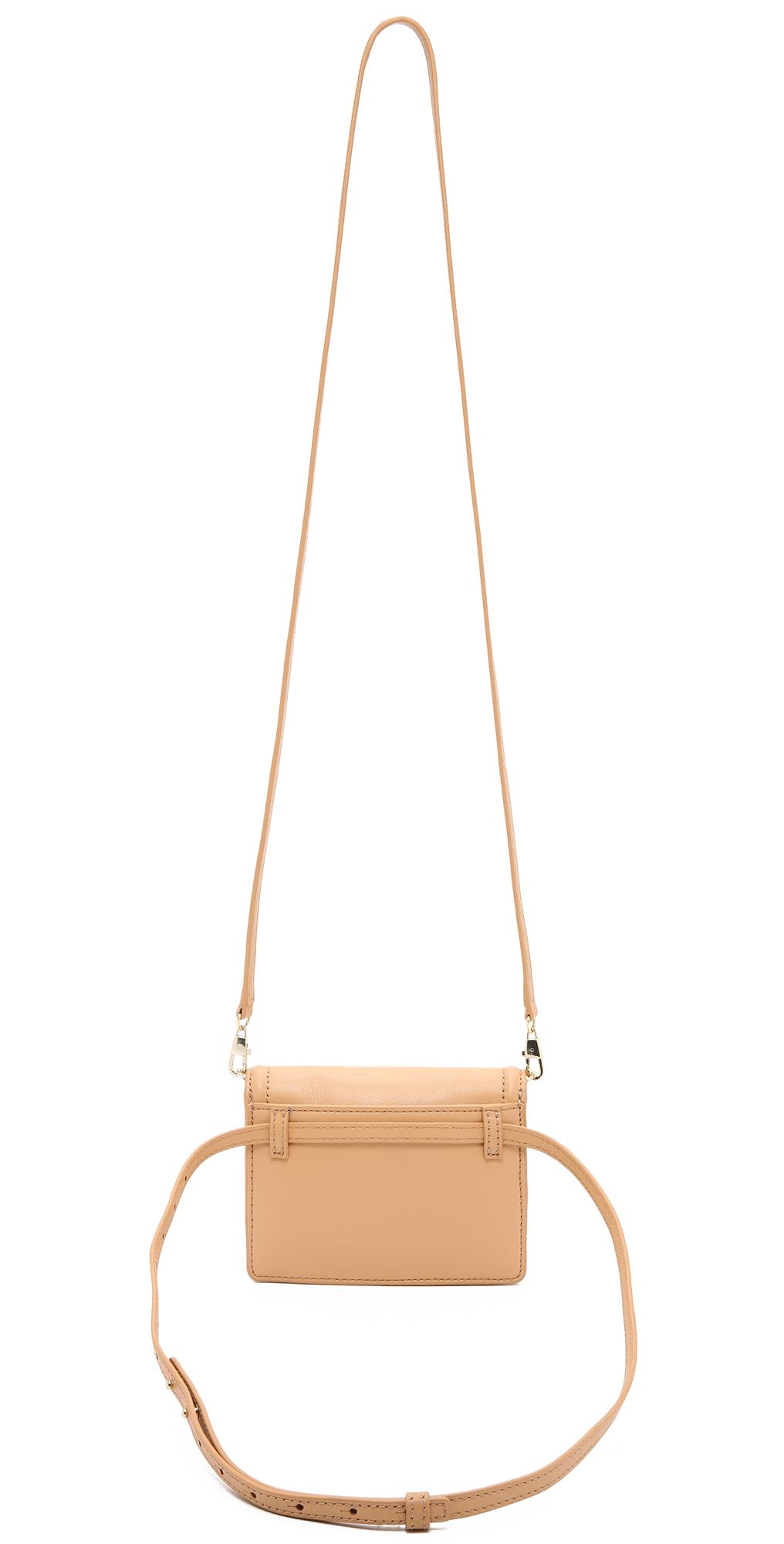 LOEFFLER RANDALL Baby Rider Waist Pack Natural//Golden One Size